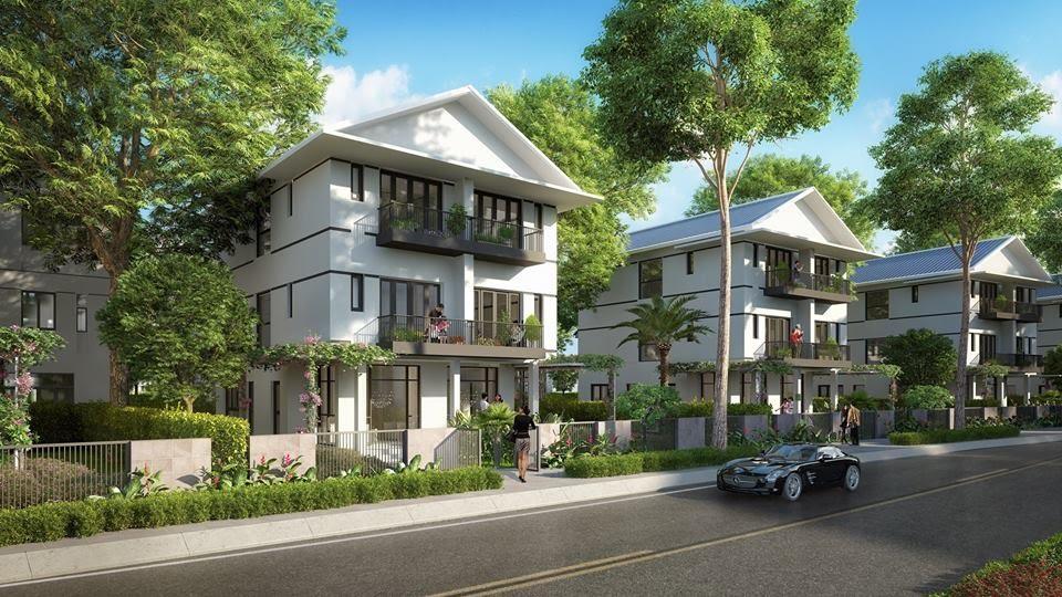Nhà ở biệt thự mô phỏng dự án đông tăng long
