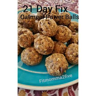 21 Day Fix Oatmeal Power Balls.