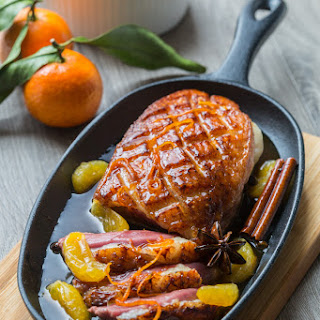 Peking Duck breast with Clementine & Spices.