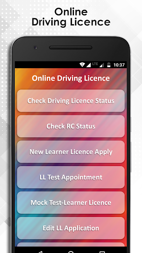 Online Driving License app (apk) free download for Android