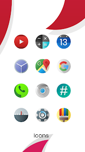 Oreo Silver Circle Icon Pack Screenshot
