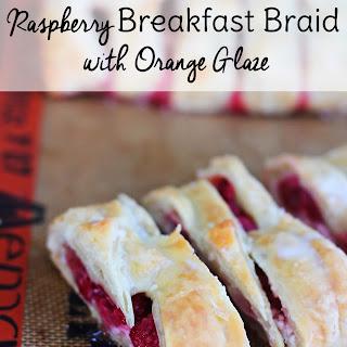 Raspberry Breakfast Braid with Orange Glaze