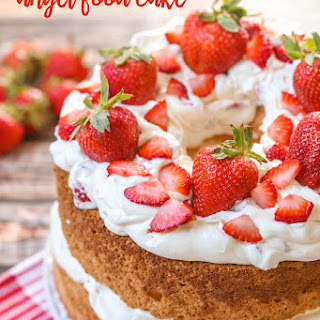 Strawberries and Cream Angel Food Cake + Breakfast Biscuits.