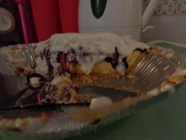 Blackberry Almost Bavarian Cream Pie