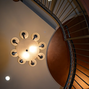 by Donald Casad - Buildings & Architecture Architectural Detail ( lights, building, ceiling, staircase )