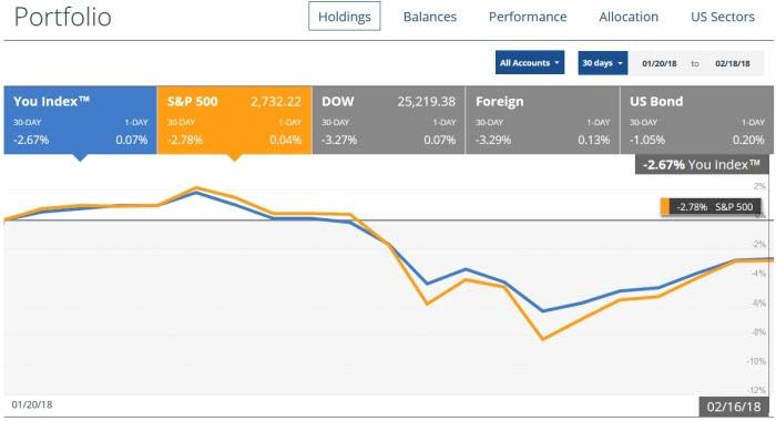 recent stock market correction