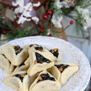 Cranberry Walnut Stuffed Shortbread Cookies