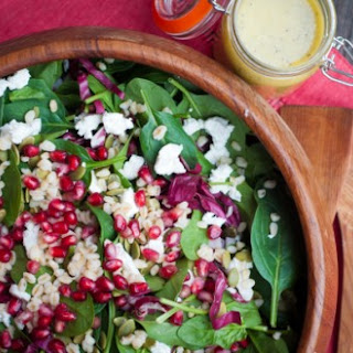 Spinach Salad With Pomegranate And Feta