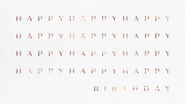 Happy Birthday Times Twelve - Zoom Background Template