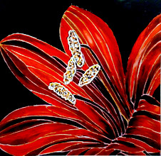 Photo: 101, Нетронина Наталья, Красная Лилия(3), Витражные краски, контуры, фольгированный картон(витражные картины), 33х33см,