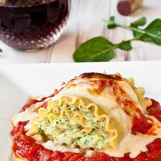 Chicken Pesto Lasagna Rolls.