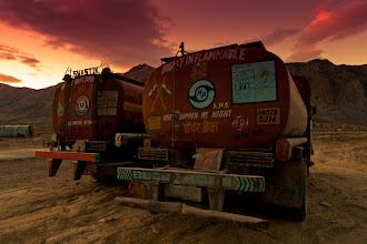 Photo: Two tankers at Sarchu, border between Himachal Pradesh and Ladakh, Manali-Leh Highway, Indian Hmalayas
