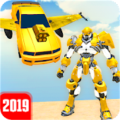 Flying Grand Robot Car Transform Fight 2019 Android APK Download Free By Alpha Comic Games