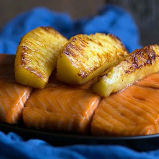 Glazed Salmon with Caramelized Pineapple
