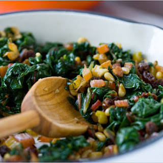 Swiss Chard with Currants and Pine Nuts