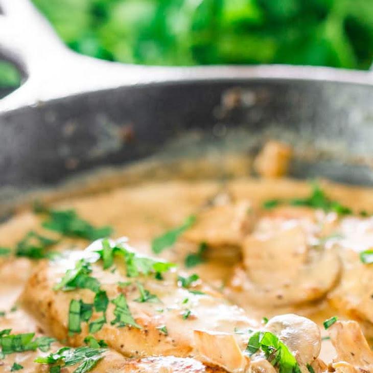 Chicken in White Wine Sauce with Mushrooms Recipe