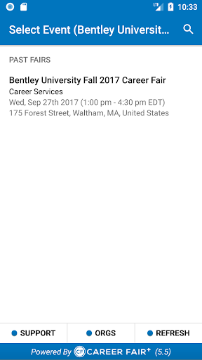 Screenshots der Career Fair Plus 3