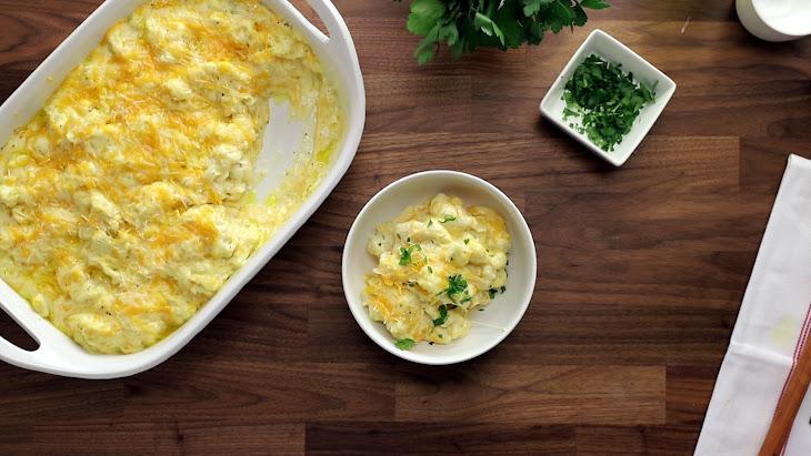 """Cauliflower """"Mac"""" And Cheese"""