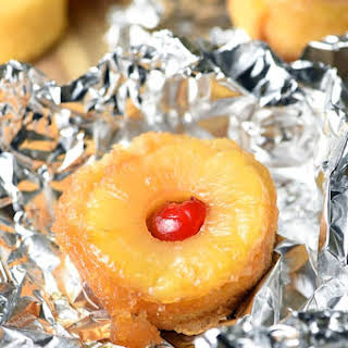 Pineapple Upside-Down Cake Foil Packets.
