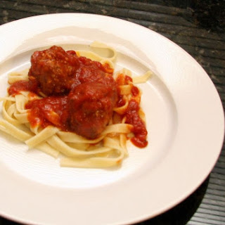 Favorite Baked Meatballs With Beef and Sausage.