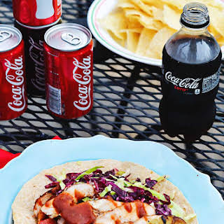 Grilled Chicken Tacos with Spicy Korean Coca-Cola™ BBQ Sauce.