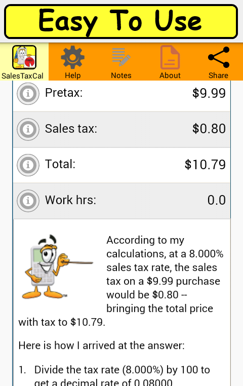 SalesTaxCalc2- screenshot