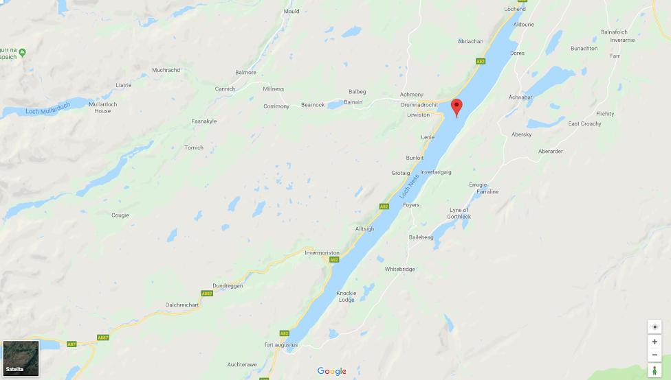 Loch Ness, Google Maps, Potwór z Loch Ness