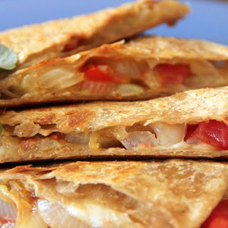 Vegetable and Goat Cheese Quesadilla.