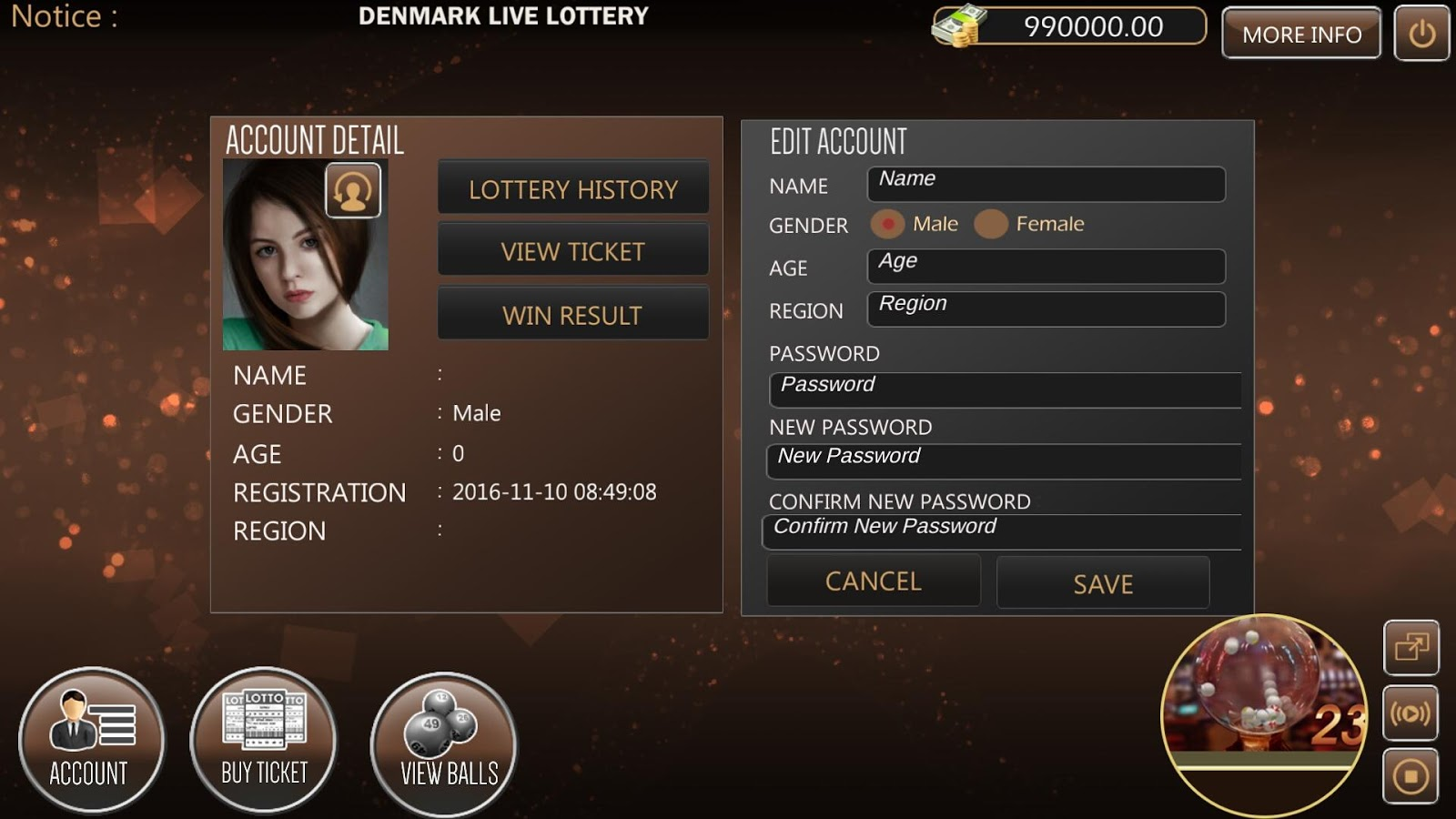 Denmark Free Live Lottery 4D- screenshot