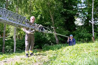 Photo: Inriktning av rotorfäste och maströr