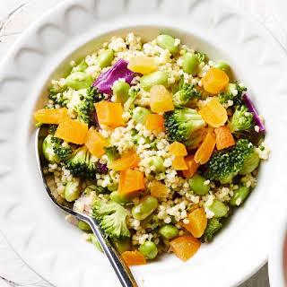 Broccoli, Edamame & Cabbage Millet Salad.