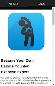 Exercise Calorie Counter screenshot 1