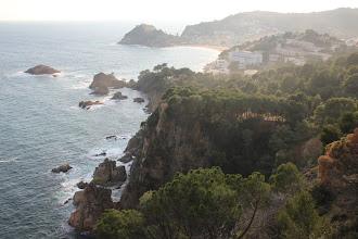 Photo: Tossa de Mar et sa plage.