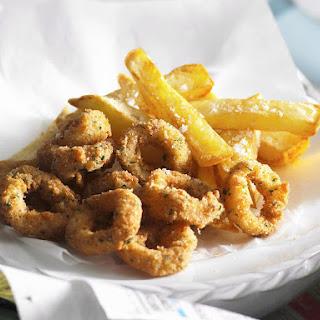 Lemon Herb Calamari and Fries