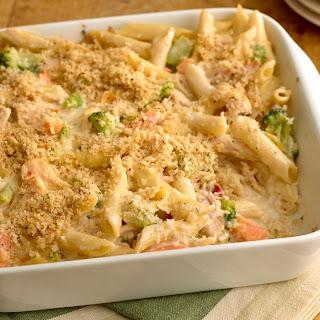 Cheesy Tuna Noodle Casserole.