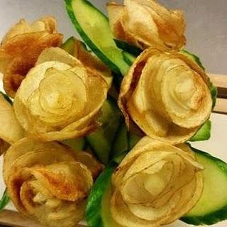 Potato Roses (fried)