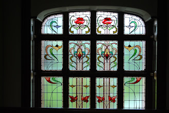 Photo: One of the many beautiful stained glass windows at Kangaroobie House