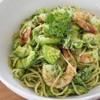 Shrimp and Avocado Pasta