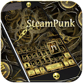 Steampunk Keyboard Theme Gold