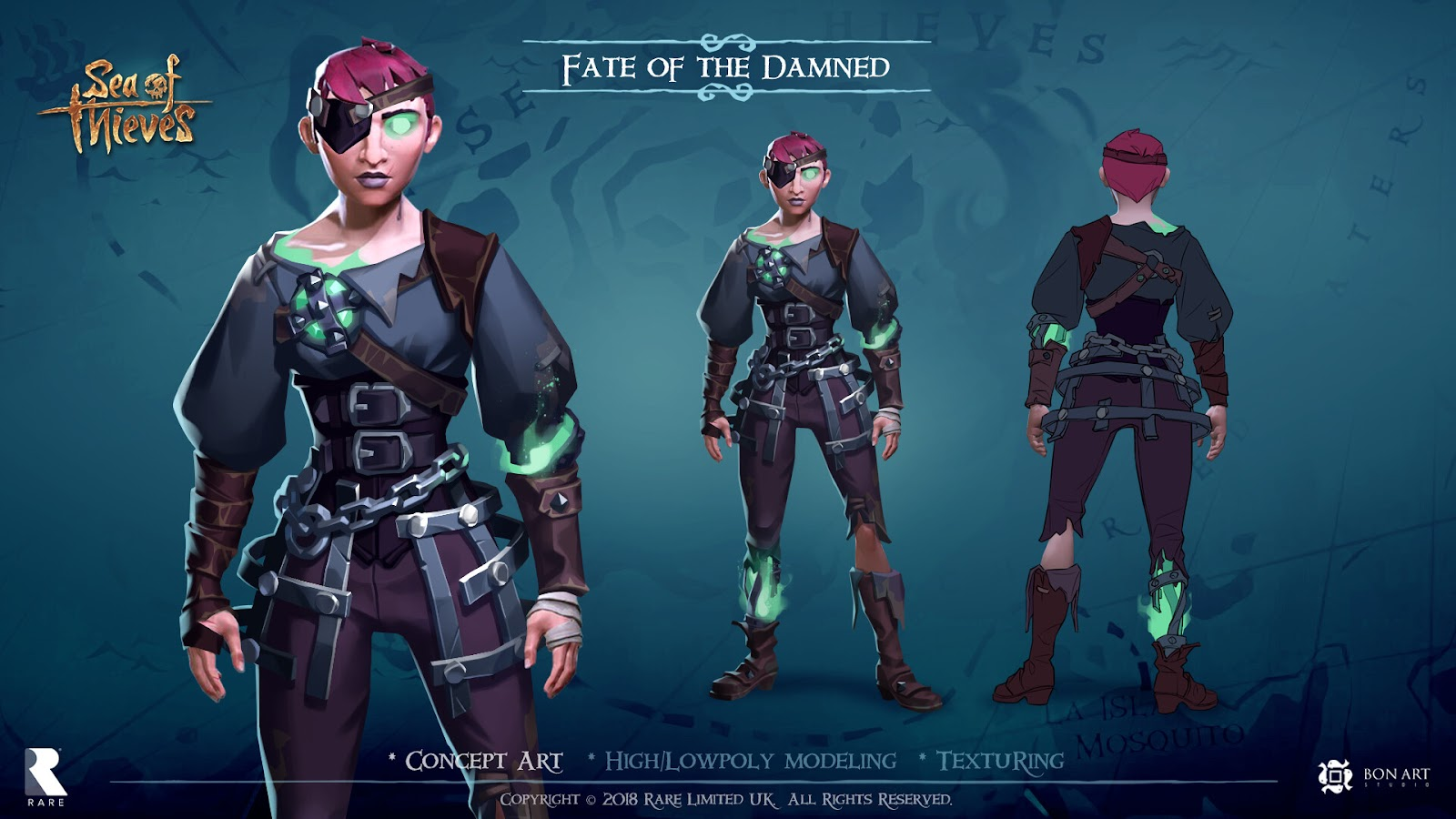 Fate of the damned skin - Sea Of Thieves