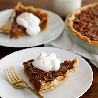 Pecan Pumpkin Pie with Bourbon Maple Whipped Cream