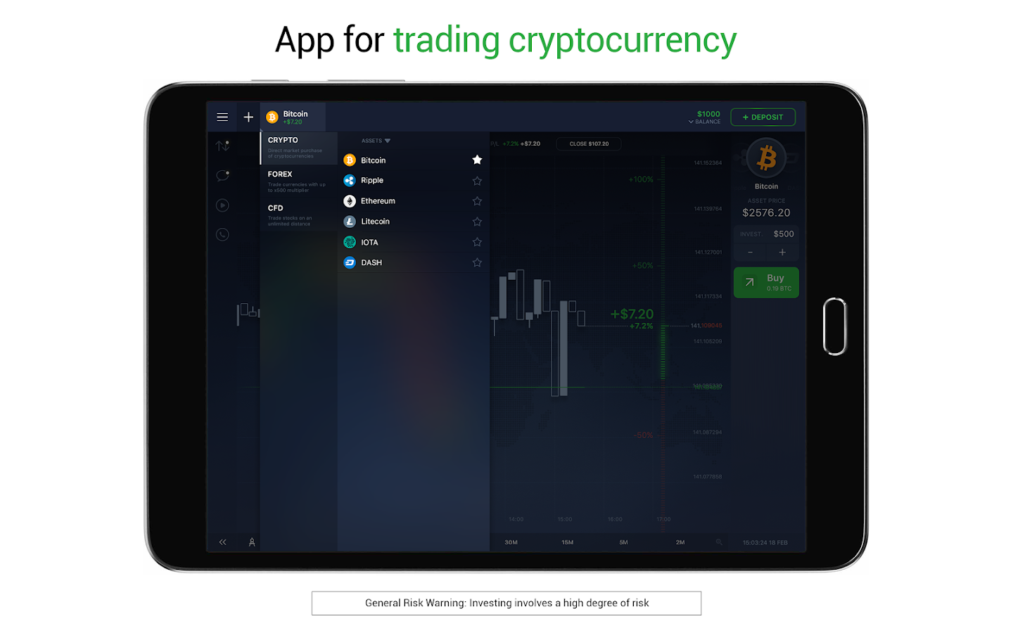 IQ Option broker: trade forex, CFD's, bitcoin- screenshot