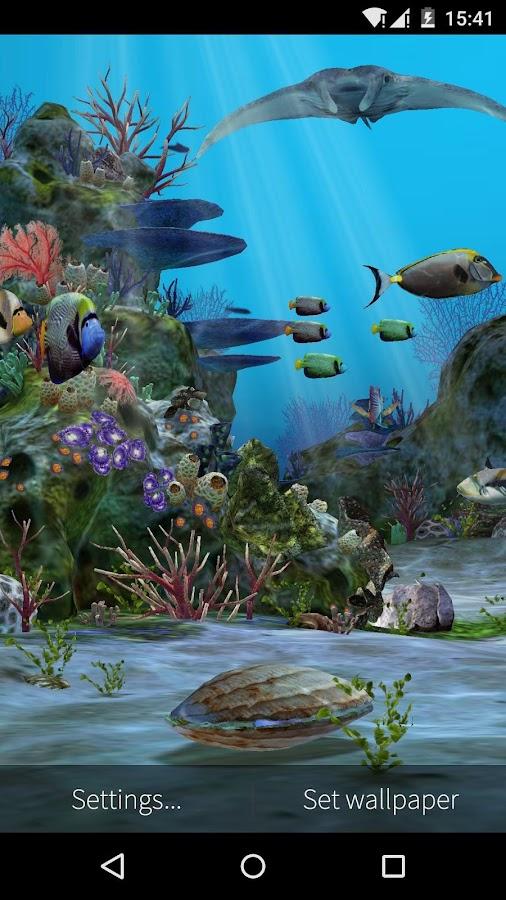 3d aquarium live wallpaper hd android apps on google play for Immagini desktop hd 3d