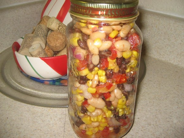 Any salad leftover can be put in a jar and refrigerated to another time..