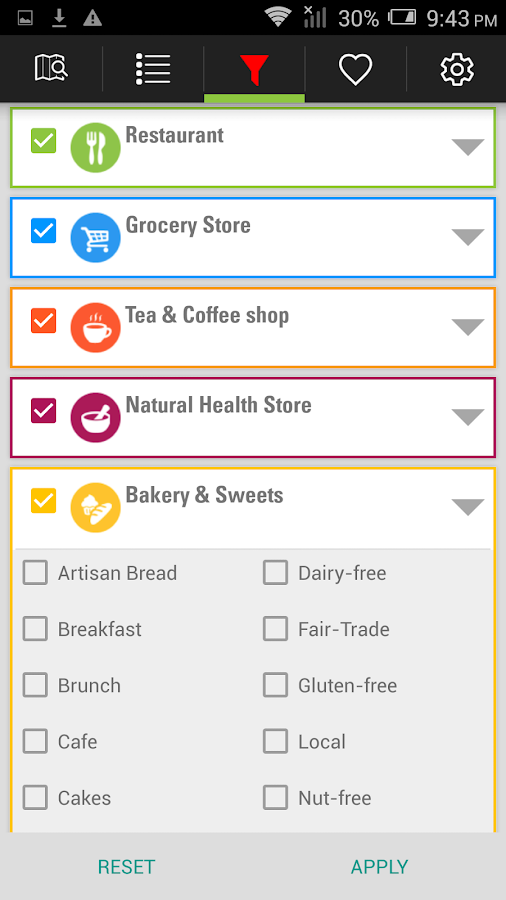 RealFood -Find healthy places- screenshot