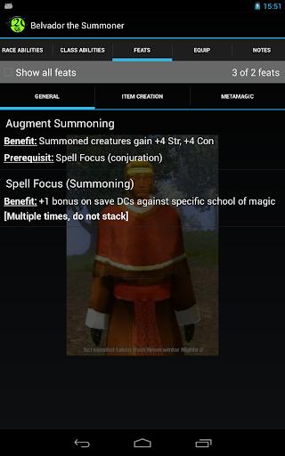 d20 Character Sheet screenshot 20