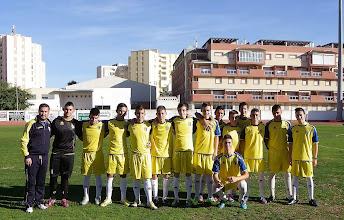 """Photo: Isla Cristina F.C. Cadete:  Entrenador, José María Garrido """"Sito"""""""
