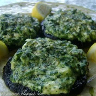 Creamed Spinach & Cream Cheese Stuffed Portobello Mushrooms!!!.