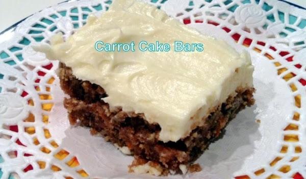 ~ Carrot Cake Bars ~ Recipe