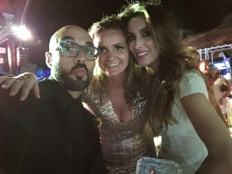 Sergio Morante, Sandra García San Juan, directora de Starlite Festival, y Paloma Cuevas.